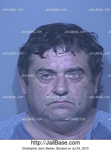 CHRISTOPHER JOHN BARBER mugshot picture