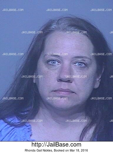 RHONDA GAIL NICKLES mugshot picture