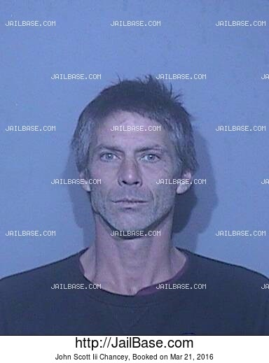 JOHN SCOTT III CHANCEY mugshot picture