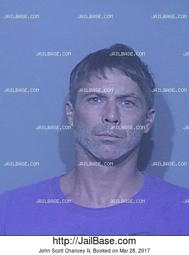 JOHN SCOTT CHANCEY III mugshot picture