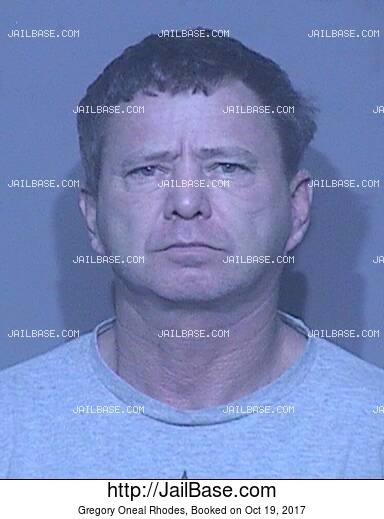 GREGORY ONEAL RHODES mugshot picture