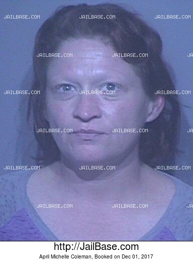 APRIL MICHELLE COLEMAN mugshot picture