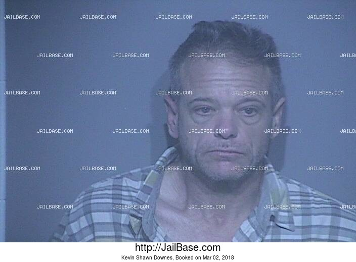KEVIN SHAWN DOWNES mugshot picture