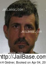 JIM H GIRDNER mugshot picture