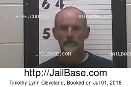 TIMOTHY LYNN CLEVELAND mugshot picture