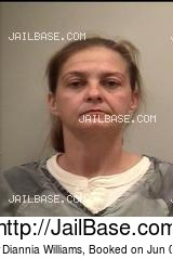 JENNIFER DIANNIA WILLIAMS mugshot picture