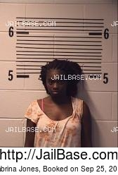 Sabrina Jones mugshot picture
