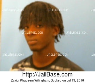 ZAVIOR KHADEEM WILLINGHAM mugshot picture