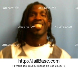 ROYRICUS JOE YOUNG mugshot picture