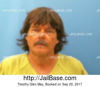 TIMOTHY GLEN MAY mugshot picture