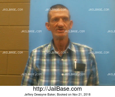 JEFFERY DEWAYNE BAKER mugshot picture
