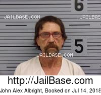 JOHN ALEX ALBRIGHT mugshot picture