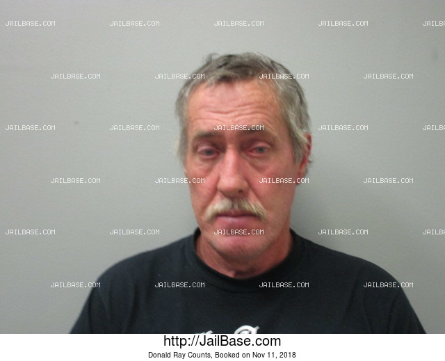 DONALD RAY COUNTS mugshot picture