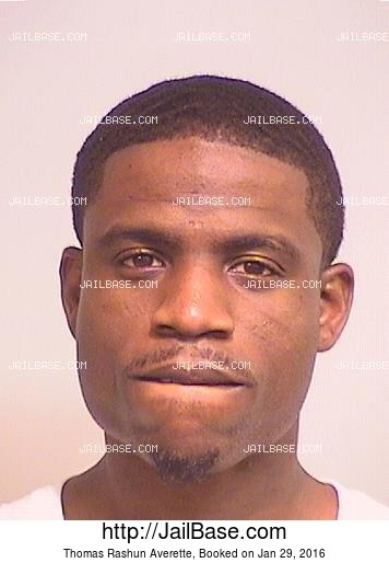 THOMAS RASHUN AVERETTE mugshot picture