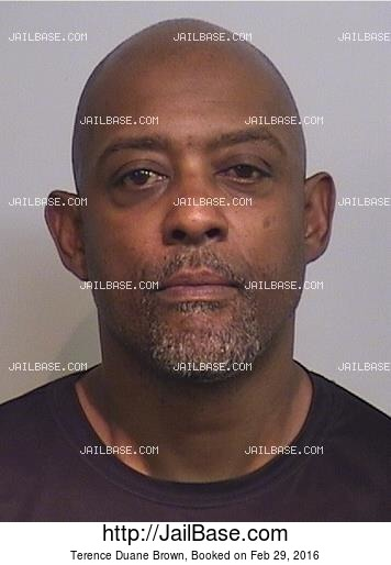 TERENCE DUANE BROWN mugshot picture