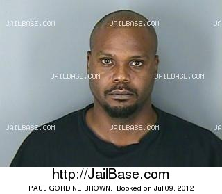 PAUL GORDINE BROWN mugshot picture