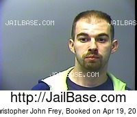 CHRISTOPHER JOHN FREY mugshot picture