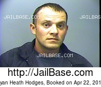 RYAN HEATH HODGES mugshot picture
