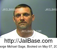 GEORGE MICHAEL GAGE mugshot picture