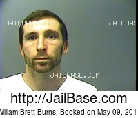WILLIAM BRETT BURNS mugshot picture