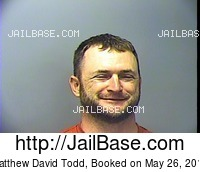 MATTHEW DAVID TODD mugshot picture