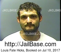 LOUIS FATE HICKS mugshot picture