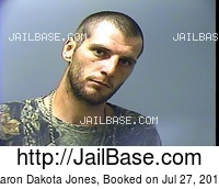 AARON DAKOTA JONES mugshot picture