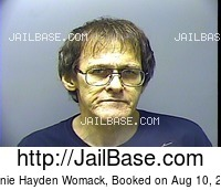 RONNIE HAYDEN WOMACK mugshot picture