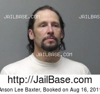 ANSON LEE BAXTER mugshot picture