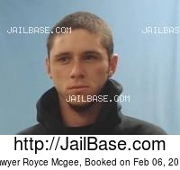 SAWYER ROYCE MCGEE mugshot picture