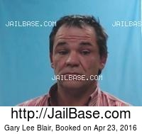 GARY LEE BLAIR mugshot picture