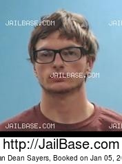 EVAN DEAN SAYERS mugshot picture