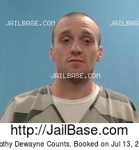 TIMOTHY DEWAYNE COUNTS mugshot picture
