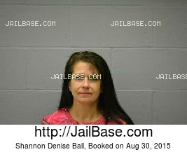 SHANNON DENISE BALL mugshot picture
