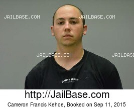 CAMERON FRANCIS KEHOE mugshot picture
