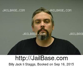 BILLY JACK II STAGGS mugshot picture