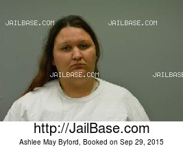 ASHLEE MAY BYFORD mugshot picture