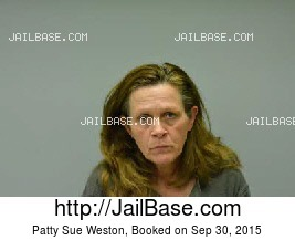 PATTY SUE WESTON mugshot picture