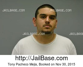 TONY PACHECO MEJIA mugshot picture