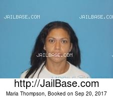 Maria Thompson mugshot picture