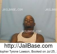 CHRISTOPHER TYRONE LAWSON mugshot picture
