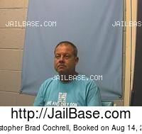 CHRISTOPHER BRAD COCHRELL mugshot picture