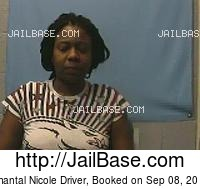 CHANTAL NICOLE DRIVER mugshot picture