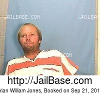 BRIAN WILLIAM JONES mugshot picture