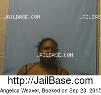 ANGELICA WEAVER mugshot picture