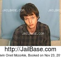 KEVIN ONEIL MCCORKLE mugshot picture