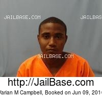 VARIAN M CAMPBELL mugshot picture