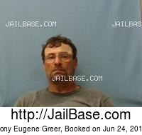 TONY EUGENE GREER mugshot picture