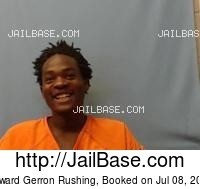 EDWARD GERRON RUSHING mugshot picture