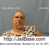 DIANA CARROLL BROWN mugshot picture